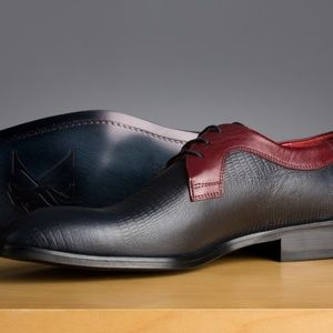 Brand new leather derby shoes.